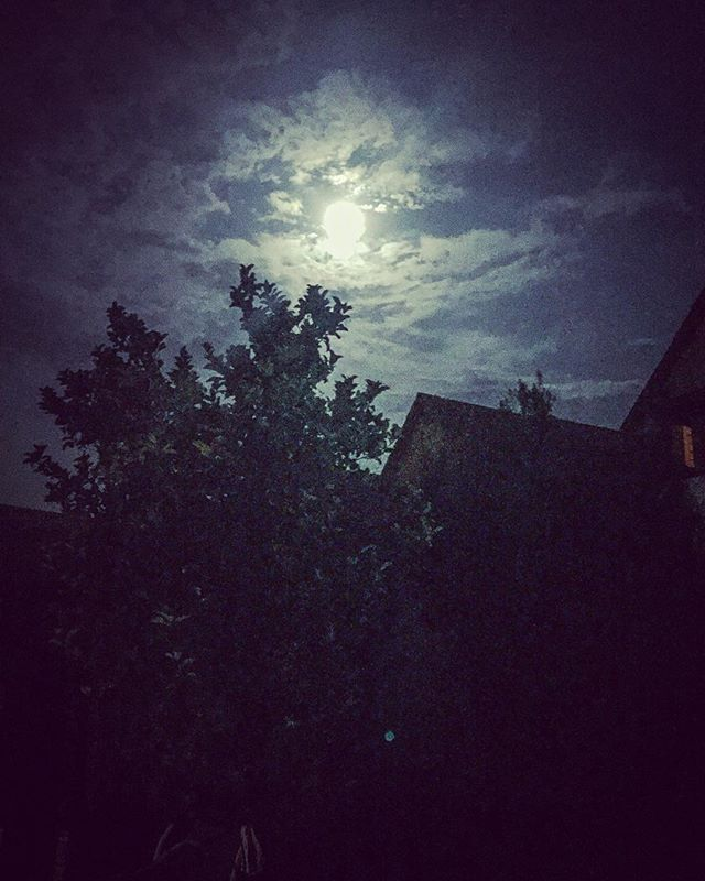 Tremenda luna esta noche 00:00 hrs.