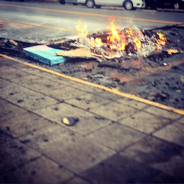 Calles ardiendo